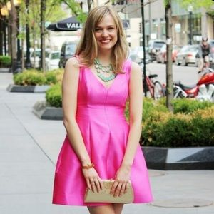 Kate Spade Pink Silk Blend Cocktail Party Dress